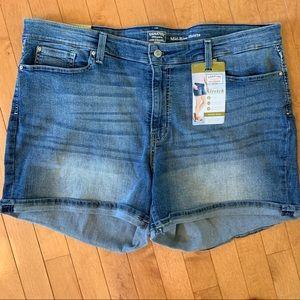NWT Levi Strauss Signature Size 24 Jean Shorts